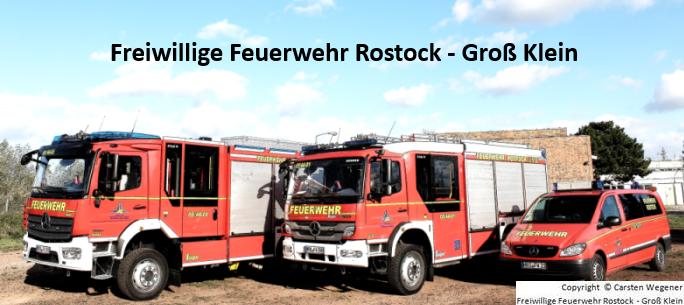 Einsatzfahrzeuge von der Freiwilligen Feuerwehr Rostock - Groß Klein