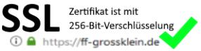 Unsere Webseite hat ein SSL-Zertifikat !!!